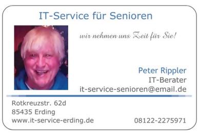 Sonderkonditionen Senioren PC, Computerkurs Älter, Rentner Rechner